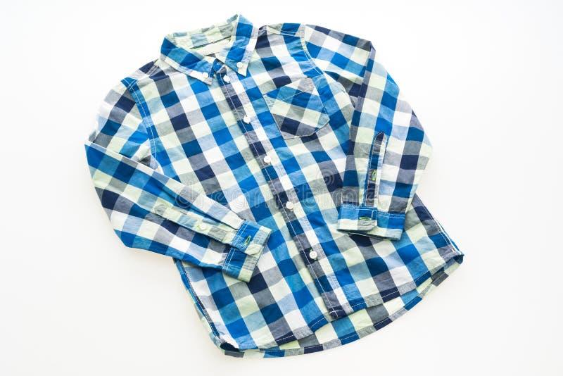 Fashion shirt for clothing. Isolated on white background royalty free stock photos