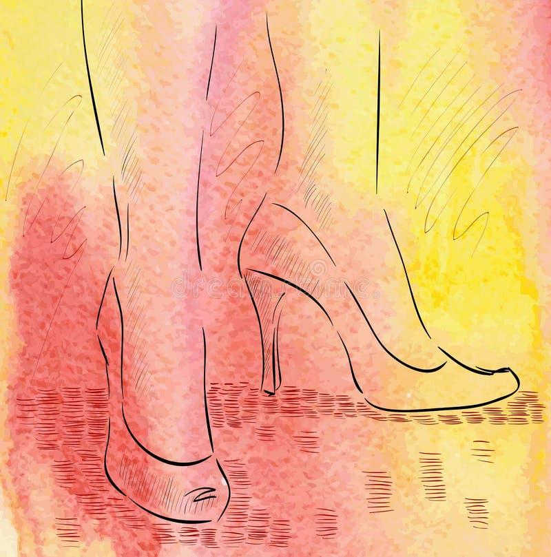 Fashion shoe royalty free illustration
