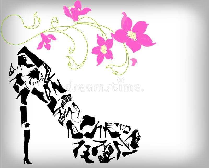 Fashion shoes background vector illustration