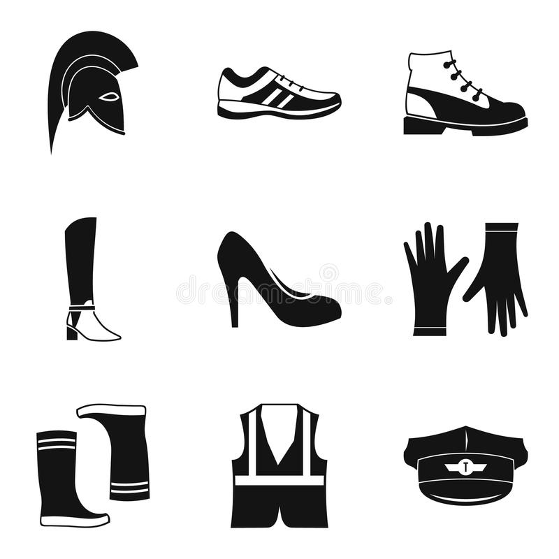 Free Fashion Shoes Icon Set, Simple Style Stock Photography - 99864672