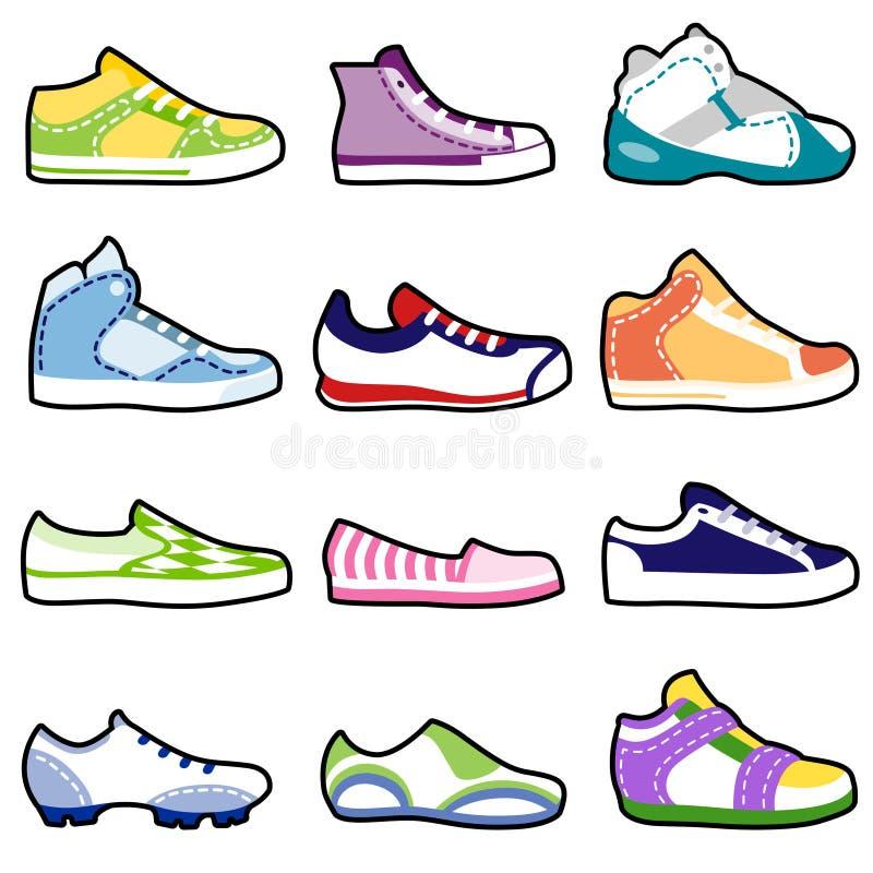Fashion shoes set stock illustration