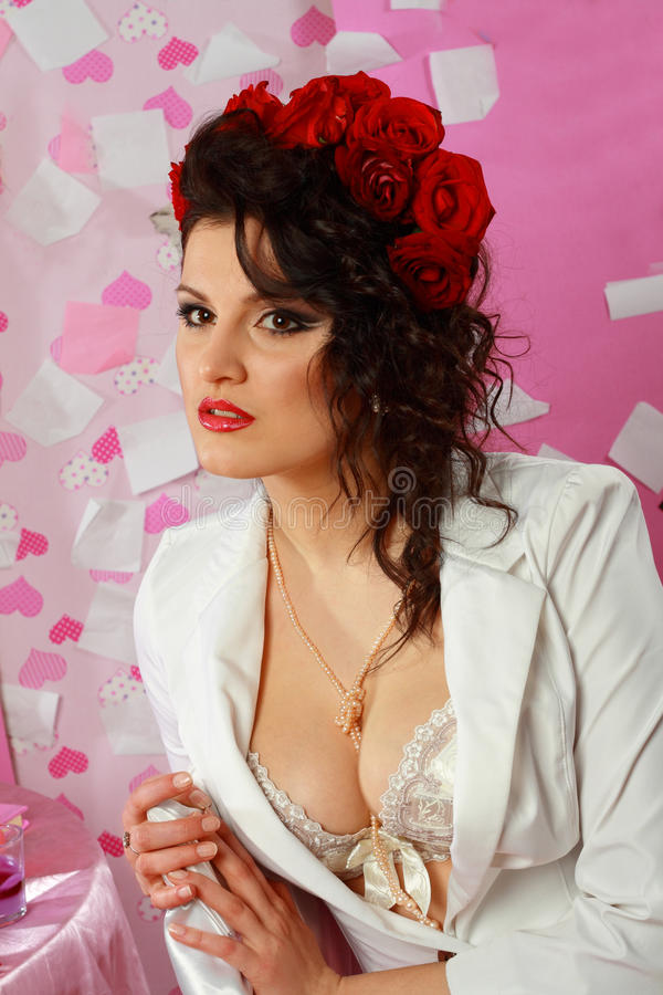 Download Fashion Shoot Of Attractive Brunette Stock Photo - Image: 24152596