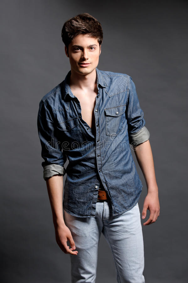 Fashion shoot with male model royalty free stock images