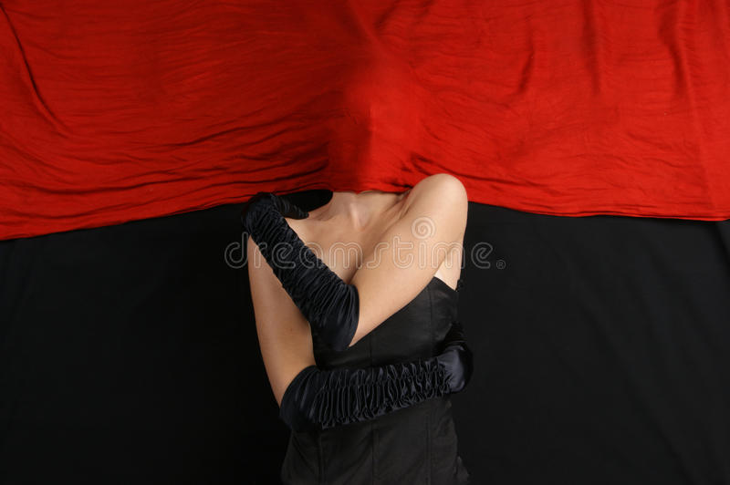 Download Fashion Shoot Of A Woman Hiding Behind A Blanket Stock Image - Image: 16477193