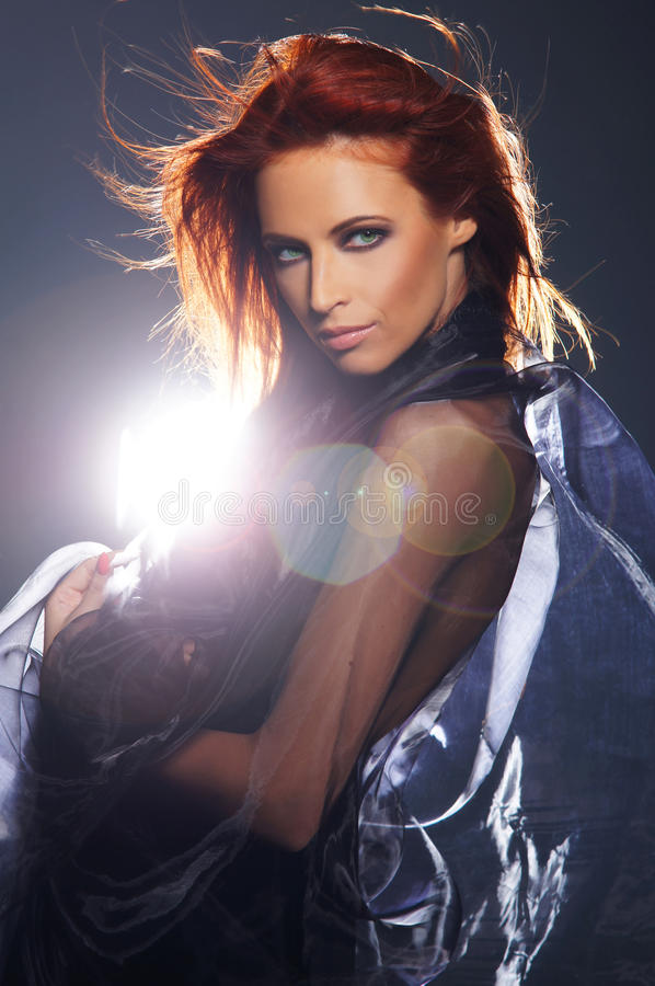 Download Fashion Shoot Of A Young And Redhead Woman Stock Photo - Image: 25576258