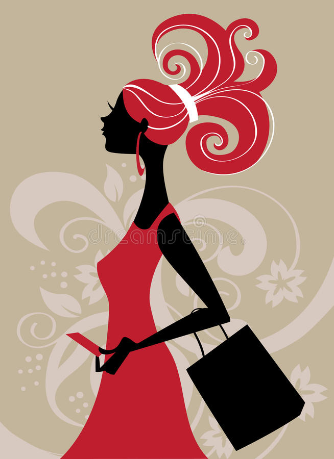 Download Fashion shopping girl stock vector. Image of shopping - 10373978