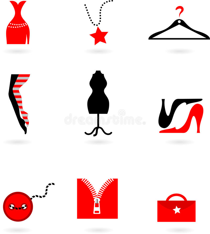 Fashion And Shopping Icons Stock Images