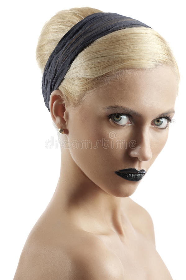 Download Fashion Shot Of Blond Girl With Hair Style Looking Stock Image - Image: 20953541