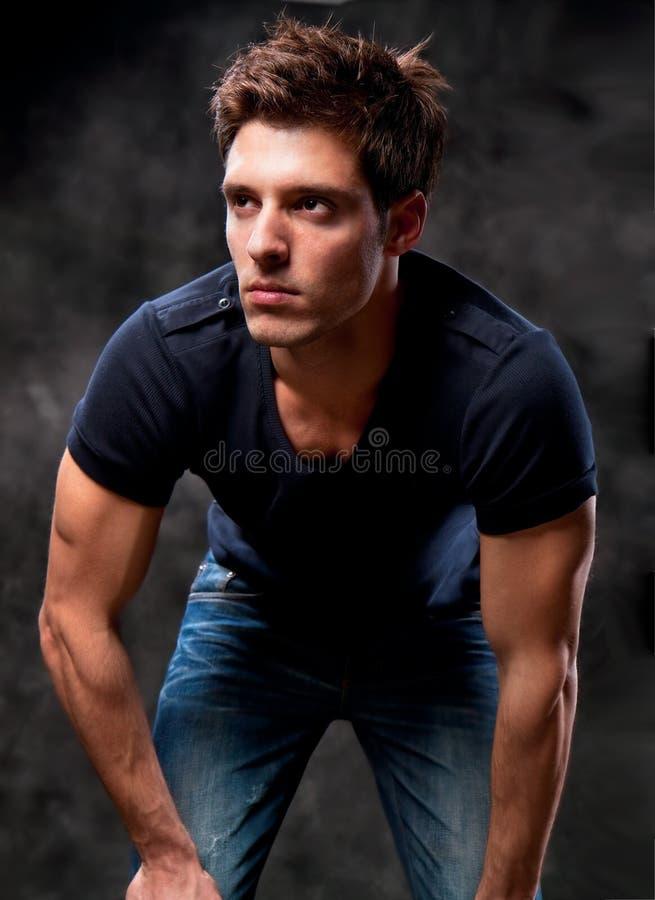 Fashion Shot of a macho Man. stock photos