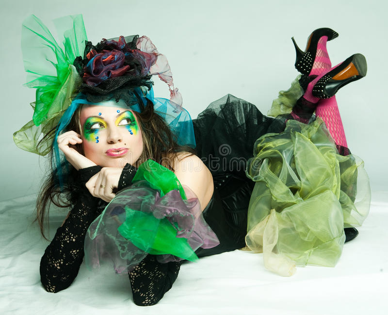 Download Fashion Shot Of Woman In Doll Style Stock Image - Image: 16154991