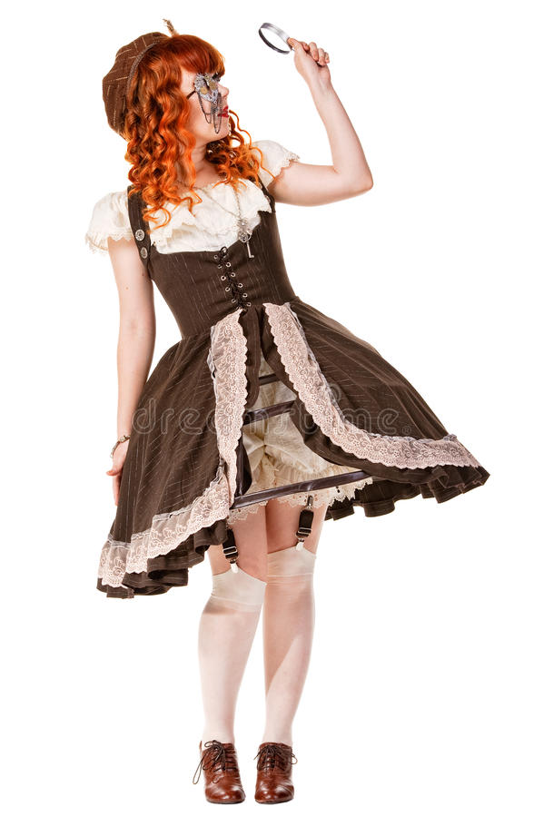 Fashion shot of woman in doll style stock image