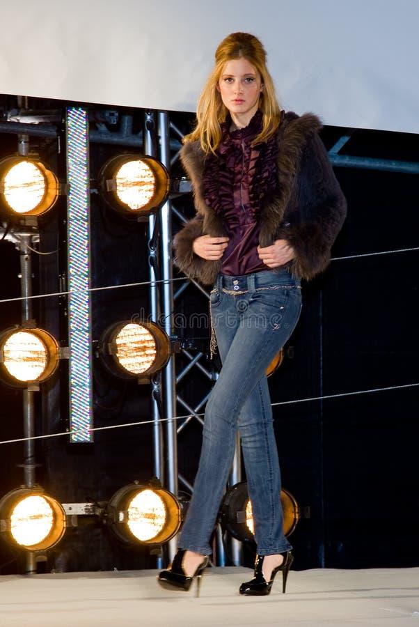 Fashion show, Barcelona stock photo