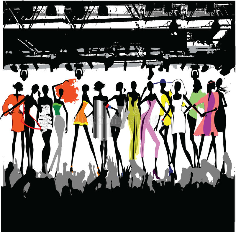 Download Fashion Show Crowd stock illustration. Image of female - 20590373