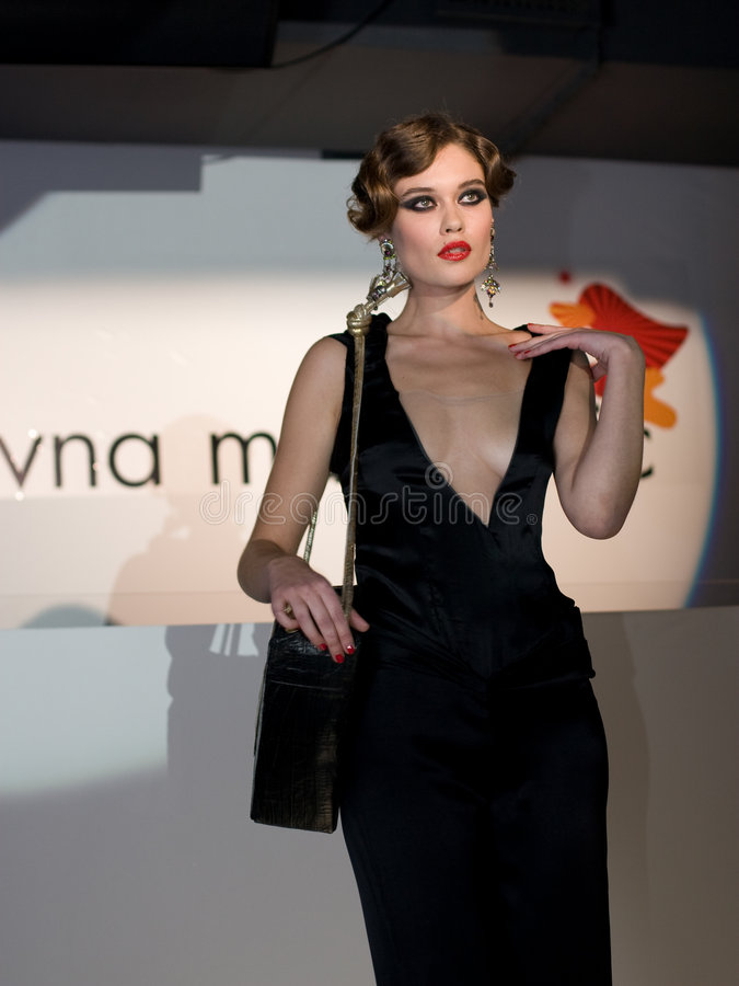 Fashion Show in Serbia royalty free stock photography
