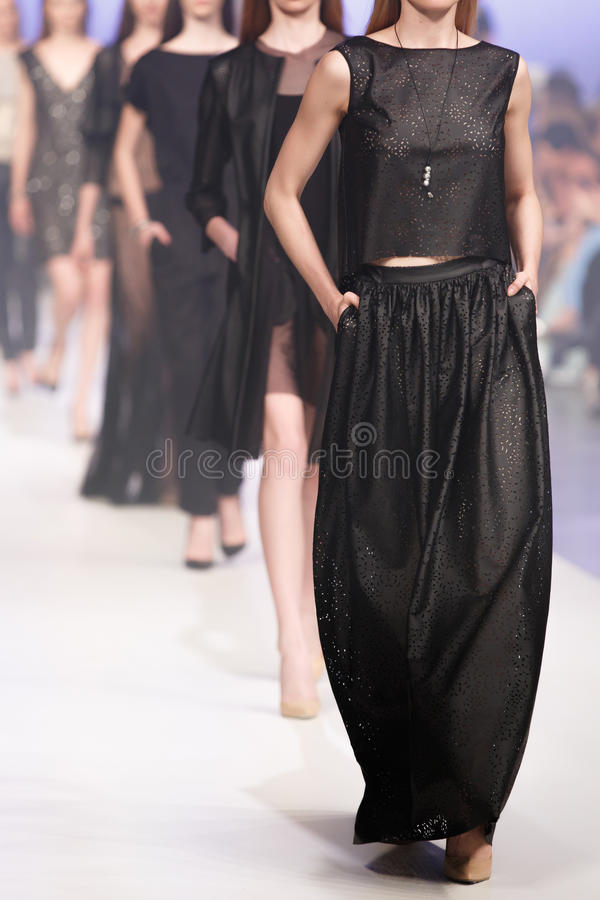 Fashion Show. Various high quality fashion show finale's photos royalty free stock photo