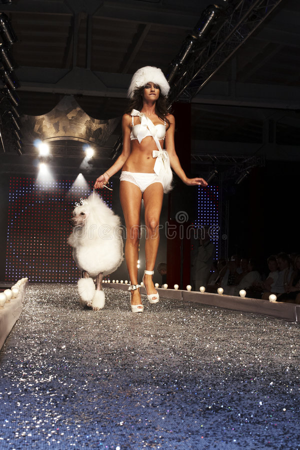 Fashion Show in Warsaw stock image
