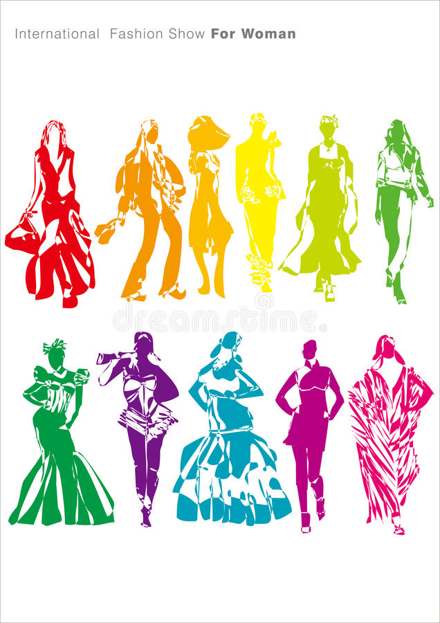 Download Fashion show for woman stock vector. Image of cheongsam - 24076241
