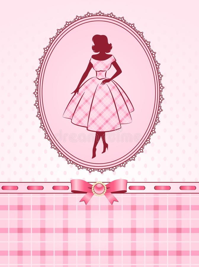 fashion silhouette of girl. vector illustration