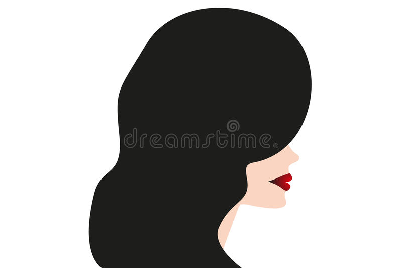 Fashion silhouette woman - Stock Illustration. Fashion silhouette woman style, illustration isolated on white royalty free illustration