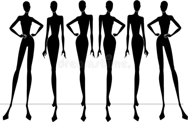Download Fashion silhouettes stock vector. Illustration of clipart - 10163466