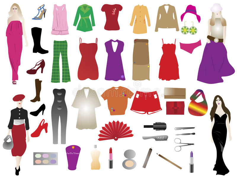 Download Fashion Silhouettes And Elements Stock Vector - Image: 8882767