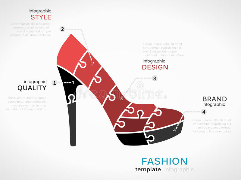 fashion skor royaltyfri illustrationer