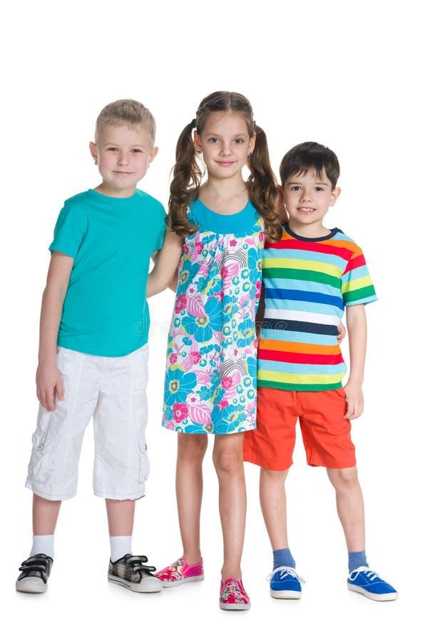 Fashion smiling children royalty free stock photos