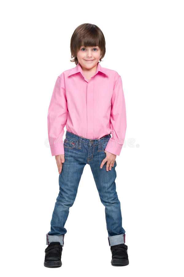 Fashion smiling little boy royalty free stock images