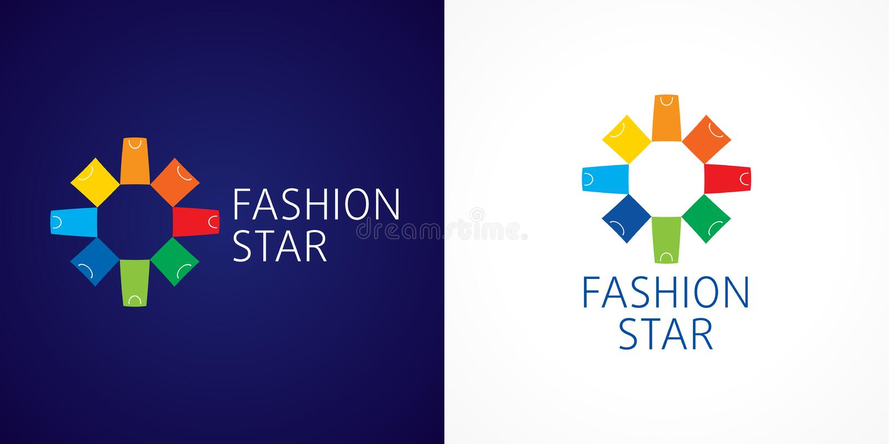 Fashion star branding vector logo. stock illustration