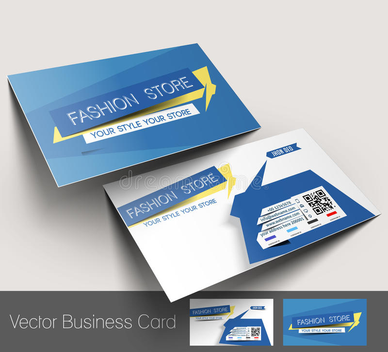 Fashion Store Business Card Stock Vector - Illustration of card ...