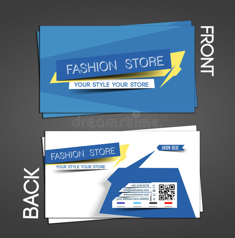 Fashion Store Business Card Stock Vector - Illustration: 42574894