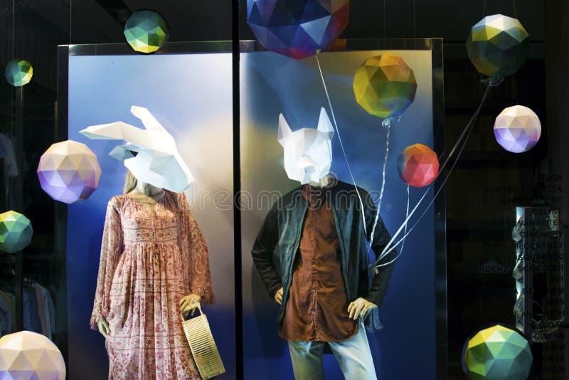 Fashion store denim trend royalty free stock photo