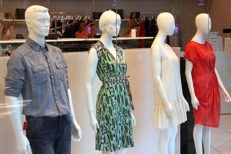 Fashion store window display stock image