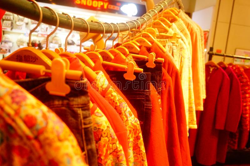 Fashion stores, women are looking for the latest fashions. In Shenzhen, china royalty free stock photos