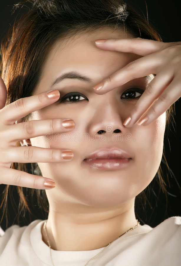 Fashion Style Of An Asian Girl Royalty Free Stock Photos
