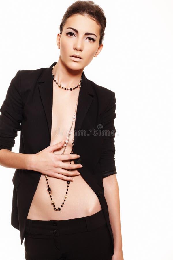 Fashion Style Make Up Glamour Business Woman Stock Photo Image Of Black Costume 17073394