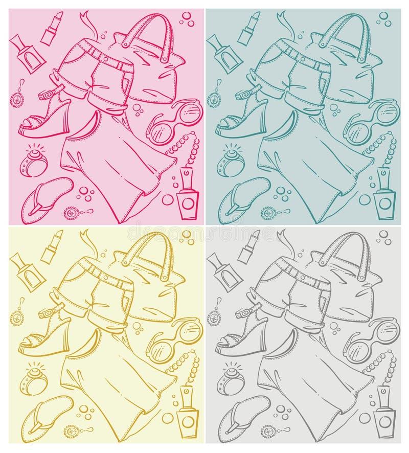 Fashion Summer Backgrounds Stock Illustration