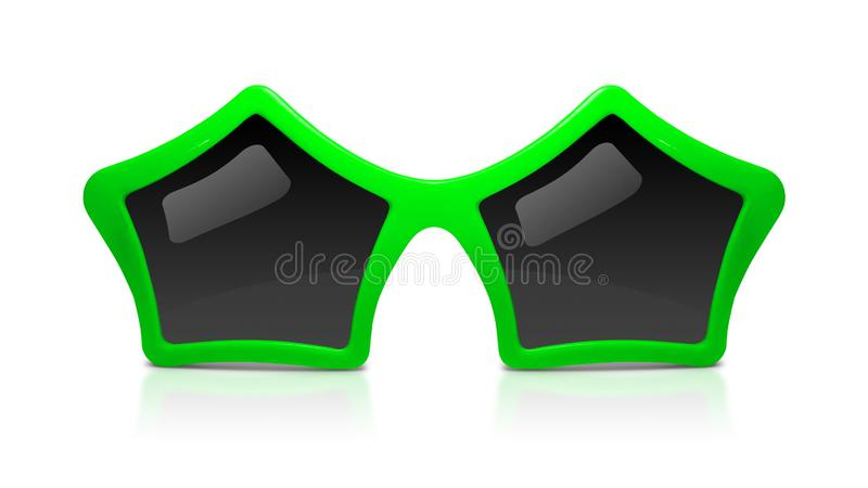 b37f50d60 Fashion sunglasses with star shape isolated on white background.  Celebration glasses party. Clipping path