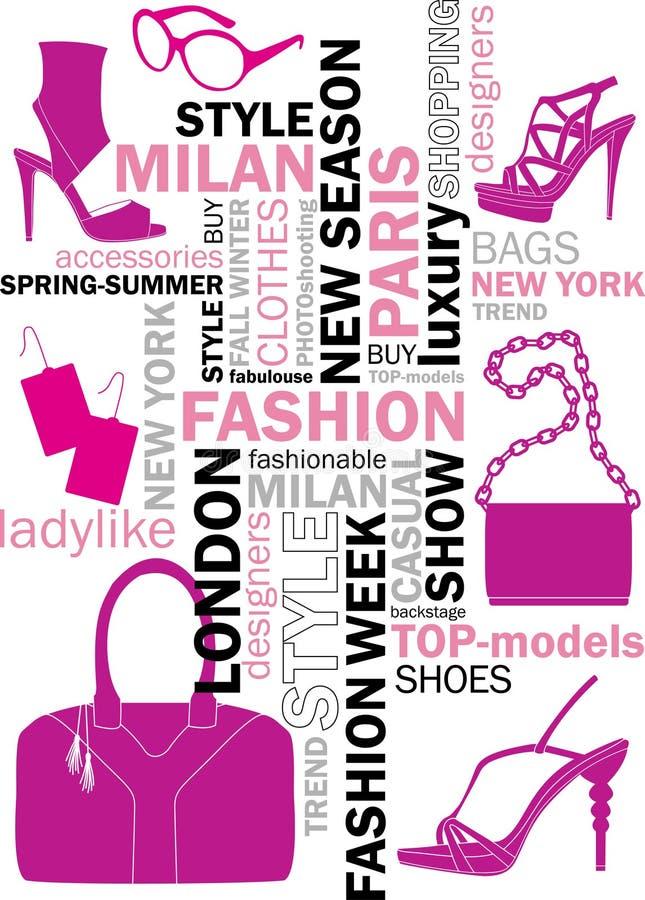 Fashion Words Stock Vector Illustration Of Keywords 30126614