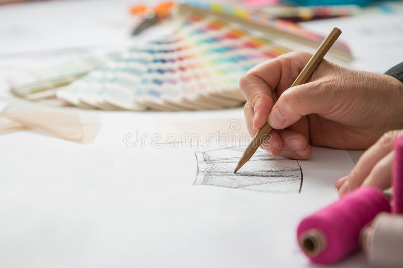 Fashion or tailor designers stock image