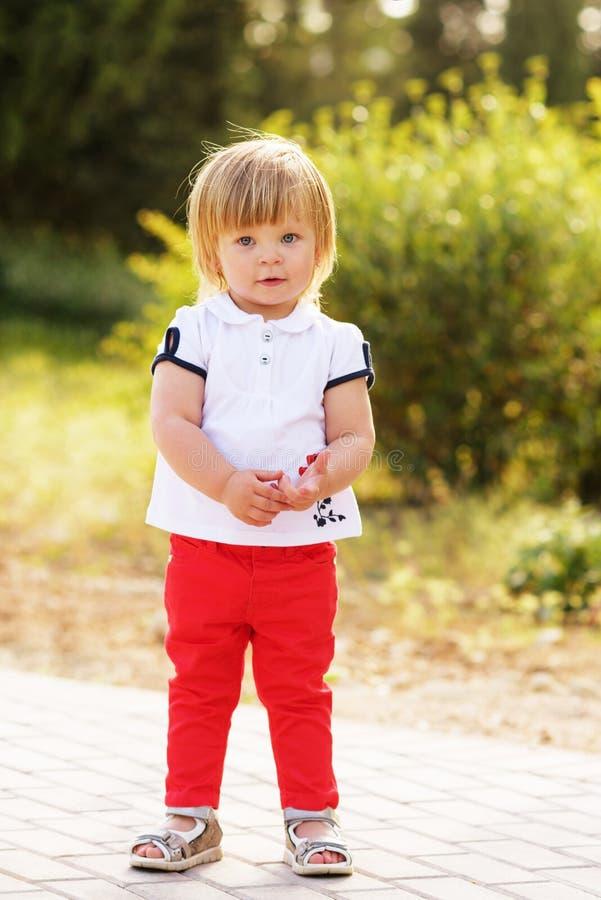 Fashion toddler girl stock image