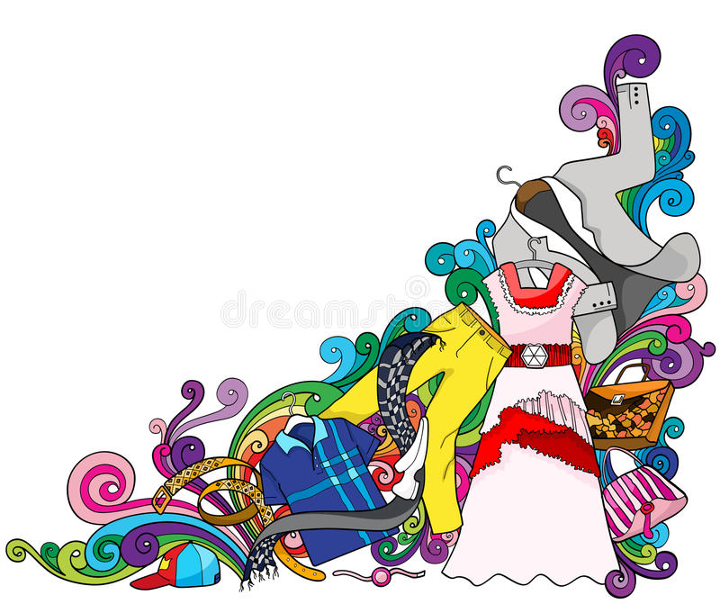 Download Fashion Trends stock vector. Image of outfit, scarf, sign - 14056409
