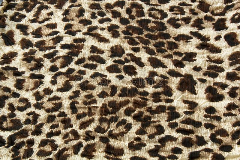 Fashion trendy fabric pattern with leopard skin print background royalty free stock photo