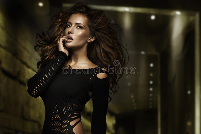 Fashion type photo of a stunning young beauty. Fashion type photo of a stunning young brunette beauty stock images