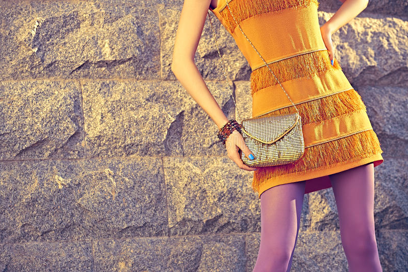 Fashion urban people, woman, outdoor. Womens on stock photo