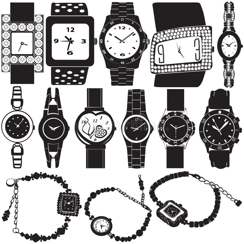 Fashion watch vector vector illustration