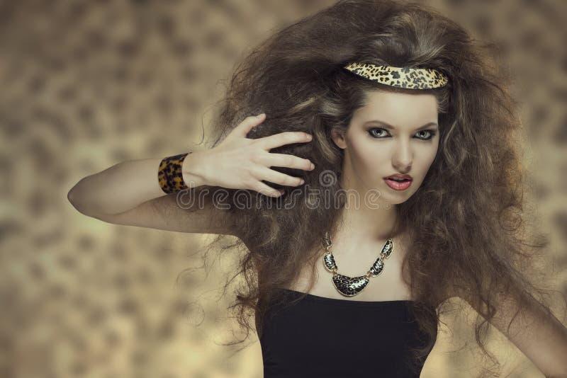 Fashion wild girl stock image