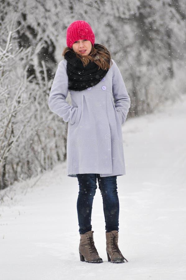 Fashion winter woman royalty free stock photos