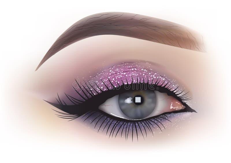 Fashion Woman Eye Makeup royalty free illustration