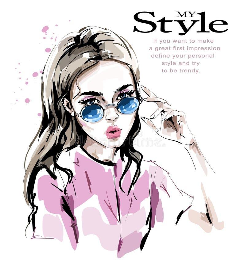 Free Fashion Woman In Sunglasses. Stylish Beautiful Young Woman. Fashion Look. Stock Photography - 113753482
